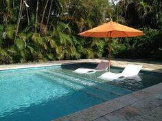 Ledge Lounger to put in the pool. Inground Pool Designs, Backyard Pool Designs, Swimming Pool Designs, My Pool, Swimming Pools Backyard, Pool Spa, Pool Landscaping, Jacuzzi, Deco Spa