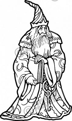 Wizard Vector Clipart Illustration Download