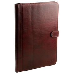 Adriano - Tuscany Leather - Leather document case with button closure
