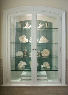 Shell Display Coastal Custom Cabinet !