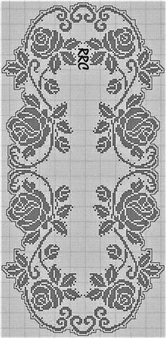 Crochet Tablecloth Pattern, Crochet Bedspread Pattern, Crochet Doily Patterns, Granny Square Crochet Pattern, Crochet Borders, Crochet Motif, Diy Crochet, Filet Crochet Charts, Crochet Cross