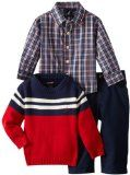 Nautica Baby-Boys Infant Crew Neck Sweater Set Cotton Machine Wash Sweater, shirt, and pant included Comfortable fit