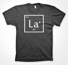 Element of Lax Lacrosse Tshirt Funny Lax 247 shirt Charcoal. $14.99, via Etsy.