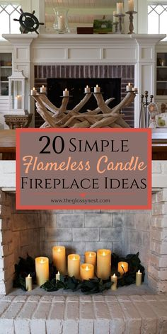 13 best candle fireplace images fake fireplace candle fireplace rh pinterest com
