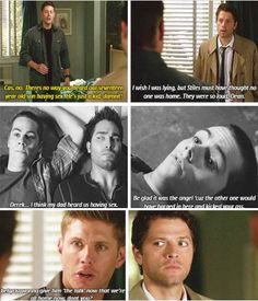 Cas overheard Stiles and Derek having sex, and Dean isn't ready to accept that his son is growing up.