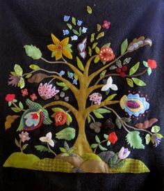 Sue Spargo ornate tree. This would be nice in wool.