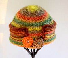 Abstract & Bold Self Striping Crochet Wool by SophiesHatsandMore, $40.00