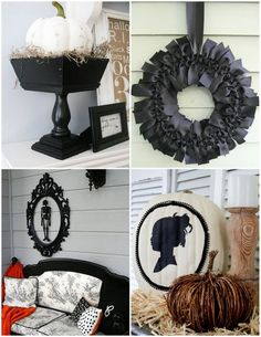 ideas from hgtv - Love the silhouette on the cream pumpkin.