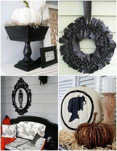 black + white halloween