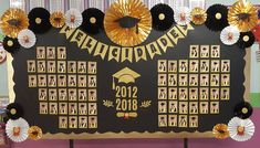 Graduation mural newspaper - New Deko Sites Graduation Card Boxes, Graduation Table Decorations, Graduation Cupcake Toppers, Graduation Party Supplies, Graduation Party Decor, Graduation Images, School Decorations, Birthday Backdrop, Kindergarten Graduation