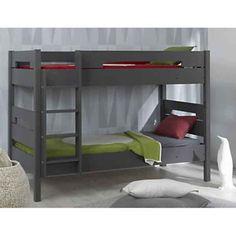 lit 2 étages enfant bois gris foncé - Recherche Google