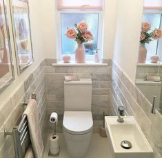 Space Saving Toilet Design For Small Bathroom What Is It 38 - homedecorsdesign Bad Inspiration, Bathroom Inspiration, Bathroom Design Small, Bathroom Interior Design, Small Toilet Design, Cloakroom Toilet Downstairs Loo, Small Wc Ideas Downstairs Loo, Small Toilet Room, Bathroom Toilets