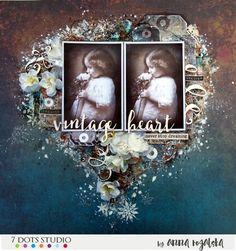 Vintage Heart by Anna Rogalska