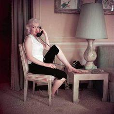 Marilyn. Schenck House sitting. Photo by Milton Greene, 1953.