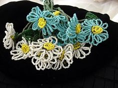 vintage beaded flowers #french beaded flowers, #french, #millinery
