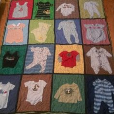 Baby Quilt from your Child's Cloths, T-shirts, Grandparents Clothing or Special Item