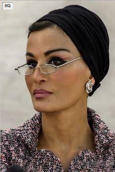 SheikhaMozah of Qatar in Chanel, 2013