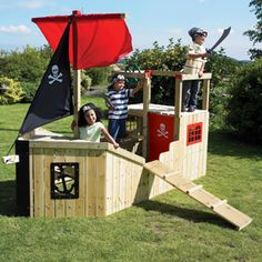 I want to build this!! Forest Pirate Galleon Wooden Playhouse
