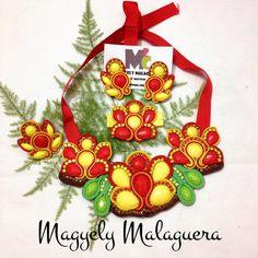Collar Cayena •••Accesorios M2C••• Soutache Venezuela +584149565090 Envíos Internacionales y Ventas al Mayor!