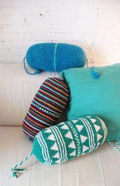 Pillow Crochet Marrakech    blue por lacasadecoto en Etsy, €26.00