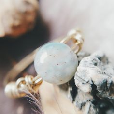 Jasper stone ring // brasswire MEDIUM or LARGE boho by Howlitetrib