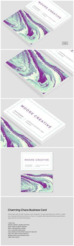 Charming Chaos Business Card      https://creativemarket.com/MeeraG/248609-Charming-Chaos-Business-Card?u=MeeraG&utm_source=Link&utm_medium=CM+Social+Share&utm_campaign=Product+Social+Share&utm_content=Charming+Chaos+Business+Card+~+Business+Card+Templates+on+Creative+Market