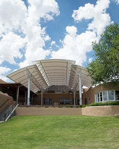 Steel frame Pavilion at the Santa Fe Opera by Santa Fe Awning Membrane Structure, Roof Structure, Steel Structure, Gazebo, Pergola, Metal Carports, Tensile Structures, Carport Designs, Tent Design