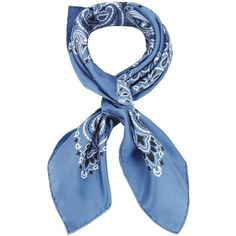 Manipuri Women's Bandana Print Blue Silk Square Scarf (14495 RSD) ❤ liked on Polyvore featuring accessories, scarves, blue, square scarves, silk shawl, blue silk scarves, pure silk scarves and blue shawl