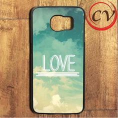 Hipster Sky Love Quotes Samsung Galaxy S7 Edge Case
