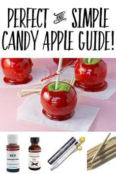 Step by step guide to the PERFECT Candy Apples!! We love these for Halloween…
