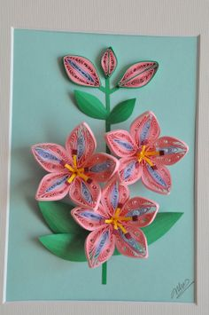 quilled orchids   13/ Paper quilling - Color collection