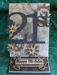 Imaginarium Designs Chipboard 21st easel card 21st Birthday Cards, Happy Birthday, 21 Cards, Engagement Cards, Easel Cards, Milestone Birthdays, Masculine Cards, Chipboard, Card Ideas
