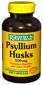 Psyllium Husks 200 Caps, 500 Mg - Good'n Natural by Good n Natural. $9.59. Quantity  200 Caps. Name  Psyllium Husks. Potency  500 Mg. The husk swells when it comes in contact with water. It can absorb anything that is 8-16 times its weight. Its bulky fiber qualities makes it an effective laxative. Psyllium Husk forms a gelatin-like mass in the colon, which keeps the bowels nice and soft. This mass also helps absorbs toxins located in our bowels.