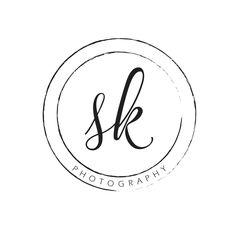 Simple, Elegant Circular Photography Logo Watermark by LuckyLogoBoutique on Etsy