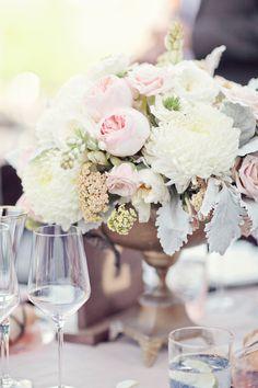 #centerpiece  Photography: Heather Kincaid - heatherkincaid.com Event Design + Coordination: GATHER Events and Occasions - gatherevents.com Floral Design: Krista Jon - kristajon.com  Read More: http://www.stylemepretty.com/2012/11/26/malibu-wedding-at-saddlerock-ranch-from-heather-kincaid/