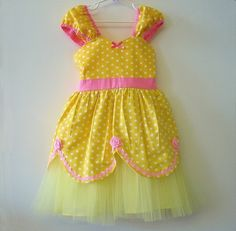 BELLE Princess TUTU dress from Lover Dovers handmade girls Halloween costume