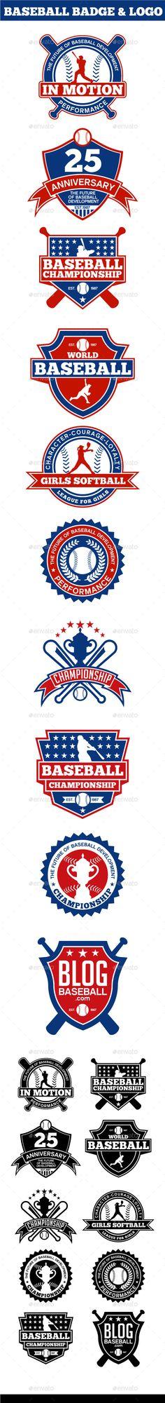 Baseball Badge & Logo - Badges & Stickers Web Elements