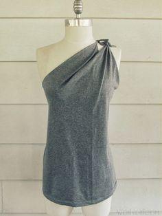 DIY Fashion Side Tied t-shirt
