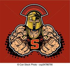 Vector - spartan mascot - stock illustration, royalty free illustrations, stock clip art icon, stock clipart icons, logo, line art, EPS picture, pictures, graphic, graphics, drawing, drawings, vector image, artwork, EPS vector art