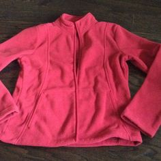 Red front zipper fleece Excellent condition, only worn once Jackets & Coats