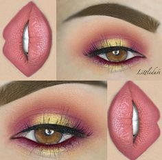 Cute eye make up Makeup Goals, Makeup Inspo, Makeup Art, Lip Makeup, Makeup Quiz, Makeup Ideas, Makeup Style, Devil Makeup, Makeup Eyebrows