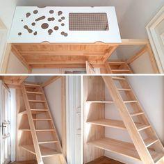 Small Room Design Bedroom, Teen Bedroom Designs, Kids Room Design, Room Ideas Bedroom, Bedroom Loft, Kids Bedroom, Build A Loft Bed, Loft Bed Plans, Tiny House Stairs