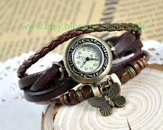 Hey, I found this really awesome Etsy listing at http://www.etsy.com/listing/154246810/butterfly-women-wrist-watch-leather-wrap