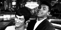 """Bruce Lee knew he could never win a fight against Ali. """"Look at my hand,"""" he said. """"That's a little Chinese hand. He'd kill me."""""""