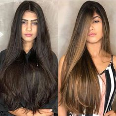 Brown Blonde Hair, Light Brown Hair, Brunette Hair, Black Hair, Hair Color Balayage, Hair Highlights, Hombre Hair, Haircuts Straight Hair, Silk Hair