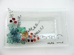 fused glass platesoap dishglass platehand by Homeforglasslovers