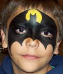 Batman face paint- i will use this when we do the kids festival next year :DD