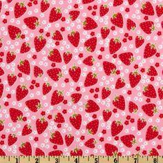 Michael Miller PUL (Polyurethane Laminate) Blossom Berries Pink