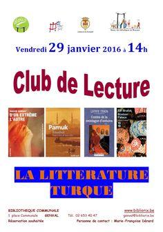 Les bibliothèques publiques de Rixensart - Club de lecture le vendredi 29 janvier 2016 à 14h à la bibliothèque communale