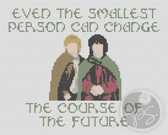 Lord of the Rings Hobbits Quote... In needlepoint?